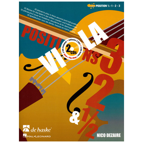Dezaire, N.: Viola Positions 3-2-1/2 (+2CD's)