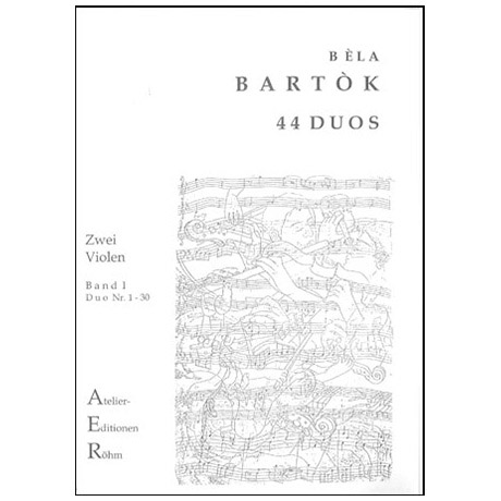 Bartok, B.: 44 Duos für 2 Violen Bd. 1