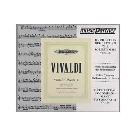 Vivaldi, A.: 3 Violinkonzerte a-Moll, E-Dur, G-Dur Playalong-CD