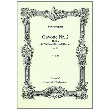 Popper, D.: Gavotte Nr. 2 Op. 23 D-Dur