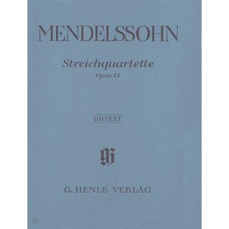 Mendelssohn Bartholdy, F.: Streichquartette D-Dur Op. 44/1, e-Moll Op. 44/2, Es-Dur Op. 44/3 Urtext