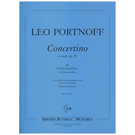 Portnoff, L.: Concertiono Op. 18 a-Moll