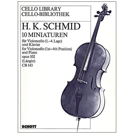 Schmid, H. K.: 10 Miniaturen Op. 102