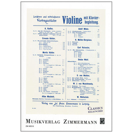 Köhler, E.: Berceuse Op. 30/2