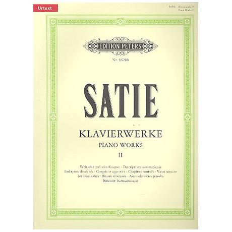 Satie, E.: Klavierwerke Band II