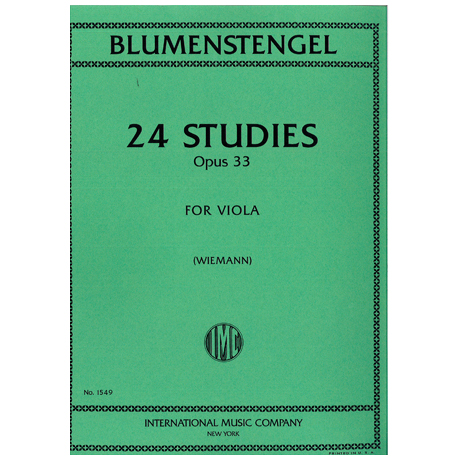Blumenstengel, A.: 24 Etüden Op. 33