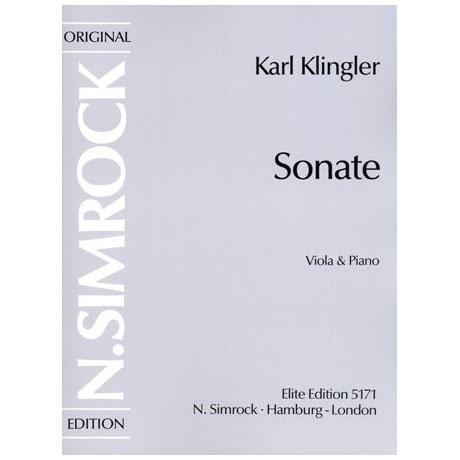 Klingler, K.: Violasonate d-Moll