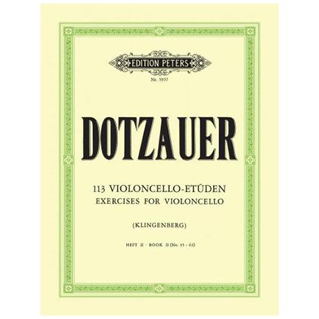Dotzauer, J. J. F.: 113 Etüden Band 2 (Nr. 35-62)