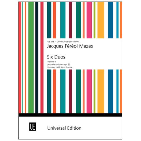Mazas, J. F.: 6 Duos für 2 Violinen Op. 39 – Teil 2