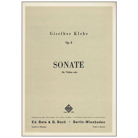 Klebe, G.: Sonate Nr. 1 Op. 8