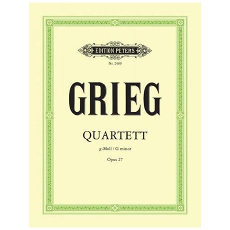 Grieg, E.: Streichquartett g-moll, op. 27