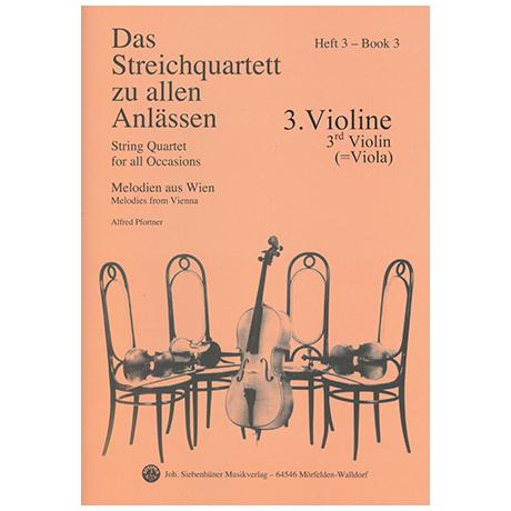Das Streichquartett zu allen Anlässen Band 3 – Violine 3/Viola