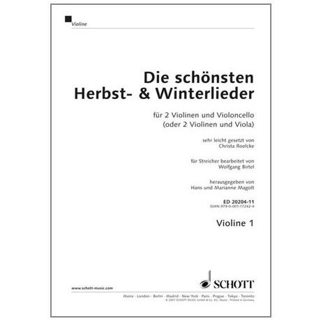 Magolt, M. & H.: Die schönsten Herbst- und Winterlieder Trioheft