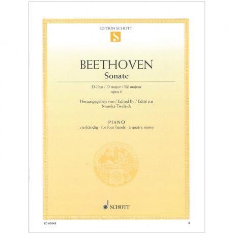 Beethoven, L. v.: Sonate Op. 6 D-Dur