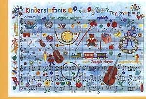 Carte postale art, symphonie pour enfants
