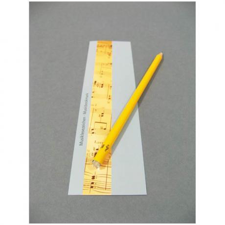 Bleistift mit Kristallstein und Lesezeichen