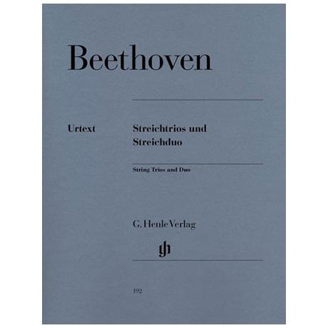 """""""Beethoven, L.v.: Streichtrios Op. 3, Op. 9; Serenade Op. 8, Streichduo Es-Dur WoO 32"""""""