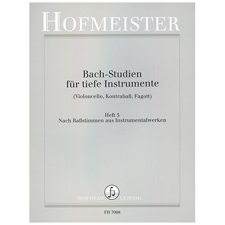 Siebach, K.: Bach Studien für tiefe Instrumente Heft 5: Nach Baßstimmen aus Instrumentalwerken