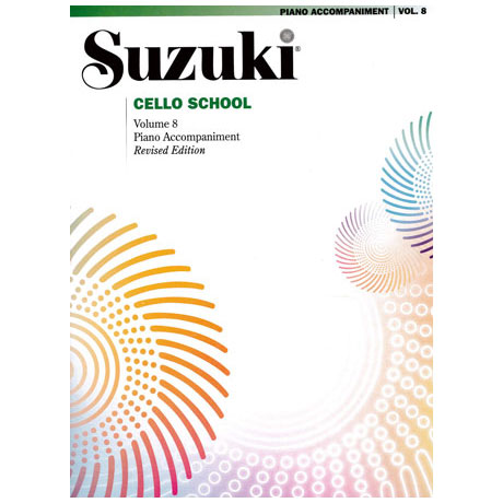 Suzuki Cello School Vol. 8 – Klavierbegleitung