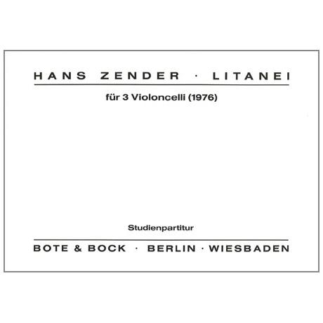 Zender, H.: Litanei