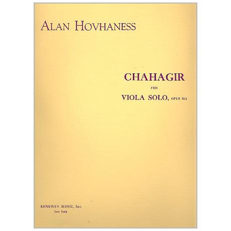 Hovhaness, A.: Chahagir Op. 56a