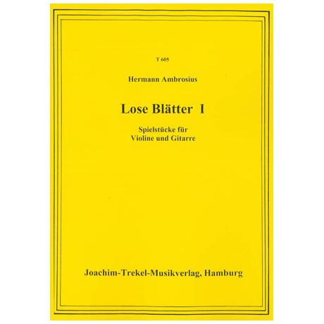 Ambrosius, H.: Lose Blätter Nr. 1