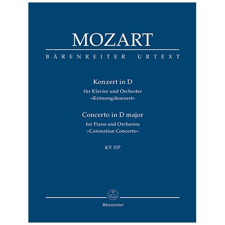 Mozart, W. A.: Konzert für Klavier und Orchester Nr. 26 D-Dur KV 537 »Krönungskonzert«