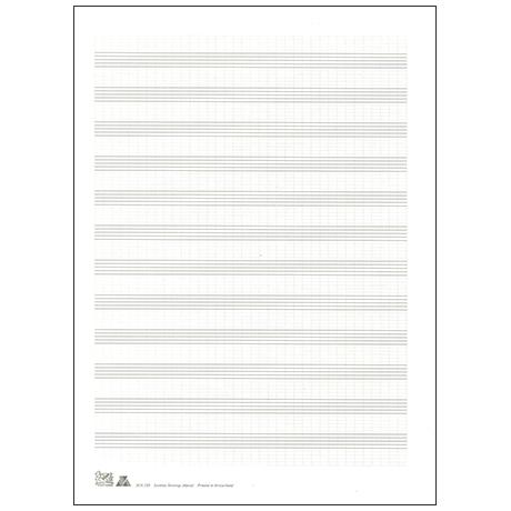 Papier à musique double feuille DIN A4