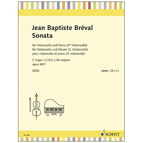 Breval, J-B.: Violoncellosonate Op. 40/1 Do majeur