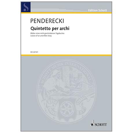 Penderecki, K.: Quintetto per archi