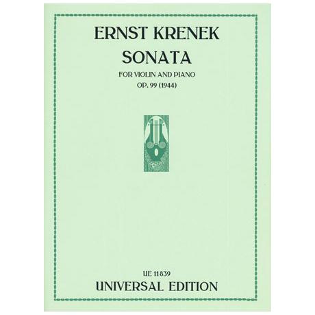 Krenek, E.: Violinsonata Op. 99