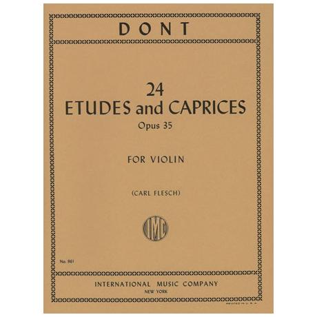 Dont, J.: 24 Etüden und Capricen Op. 35 (Flesch)