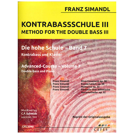 Simandl, F.: Kontrabassschule III – Die hohe Schule Band 7