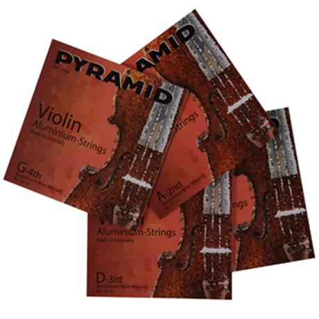 PYRAMID Aluminium cordes violon JEU