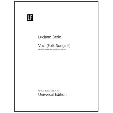 Berio, L.: Voci (Folksongs II) – Partitur