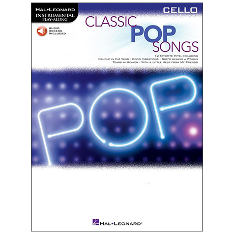 Classic Pop Songs for Cello (+Online Audio)