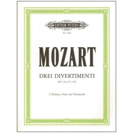 Mozart, W.A.: 3 Divertimenti D-, B-, F-Dur KV 136-138