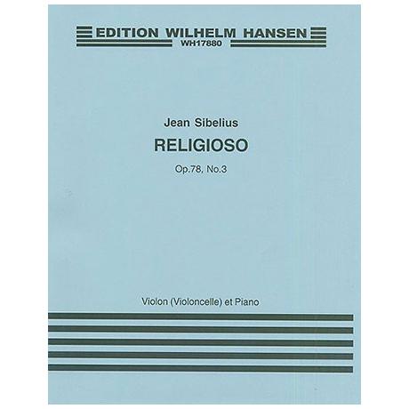 Sibelius, J.: Aus »4 Stücke« Nr. 3 Religioso Op. 78/3 (1917)