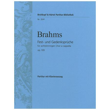 Brahms, J.: Fest- und Gedenksprüche Op. 109