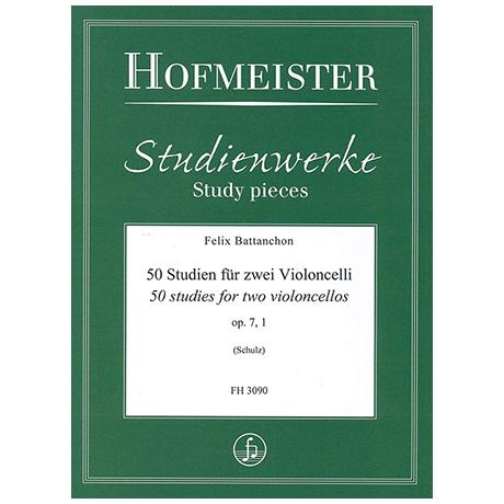Battanchon, F.: 50 Studien für zwei Violoncelli Op. 7/1 (Nr. 1-20)