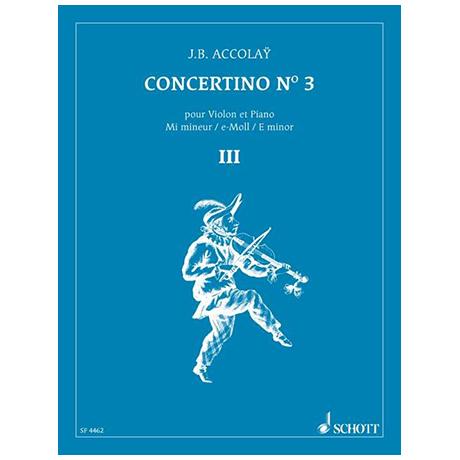 Accolay, J. B.: Violinkonzert Nr. 3 e-Moll