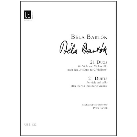 Bartók, B.: 21 Duos für Viola und Violoncello