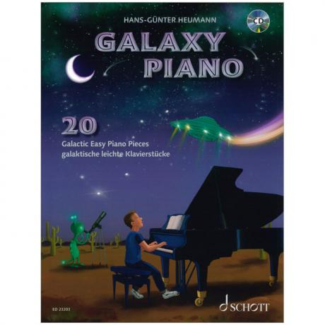 Heumann, H.-G.: Galaxy Piano – 20 galaktische leichte Klavierstücke (+CD)