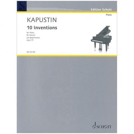 Kapustin, N.: 10 Inventions Op. 73 (1993)