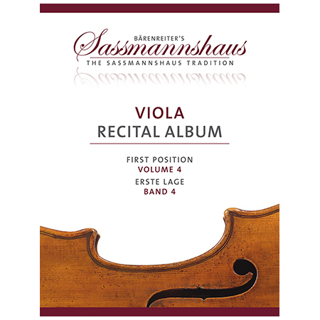 Sassmannshaus: Viola Recital Album Band 4