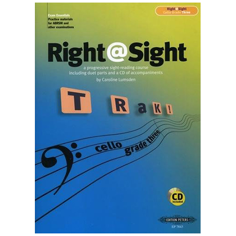 Lumsden, C.: Right@Sight for Cello Grade 3 (+CD)