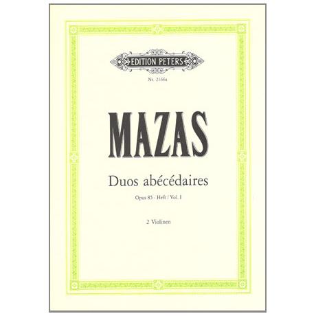 Mazas, J. F.: Duos abécédaires Op. 85 Band 1