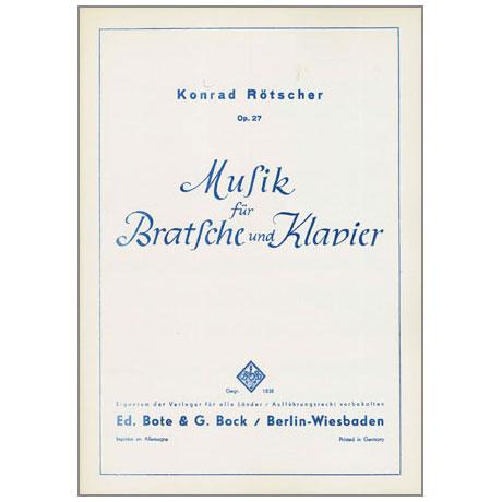 Rötscher, K.: Musik Op. 27