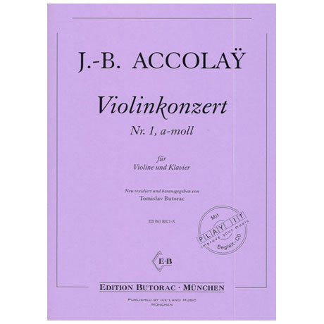 Accolay, J. B.: Violinkonzert Nr. 1 a-Moll (+CD)