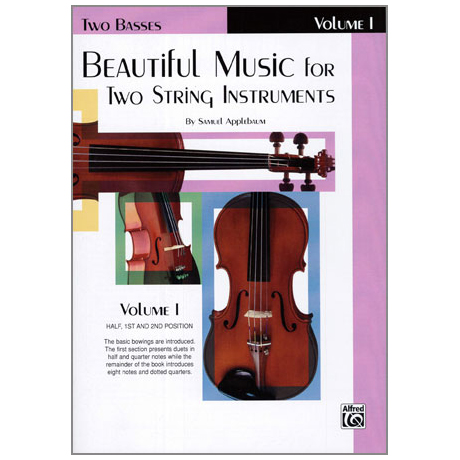 Applebaum, S.: Beautiful Music for two String Instruments Vol. 1 – Bass